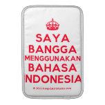 [Crown] saya bangga menggunakan bahasa indonesia  MacBook Air sleeves