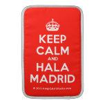 [Crown] keep calm and hala madrid  MacBook Air sleeves