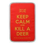 [UK Flag] keep calm and kill a deer  MacBook Air sleeves