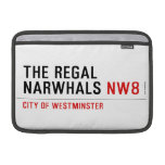 THE REGAL  NARWHALS  MacBook Air Sleeves (landscape)