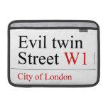 Evil twin Street  MacBook Air Sleeves (landscape)