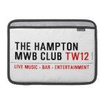 the Hampton  MWB Club  MacBook Air Sleeves (landscape)