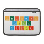 Periodic Table Writer  MacBook Air Sleeves (landscape)