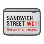 Sandwich Street  MacBook Air Sleeves (landscape)