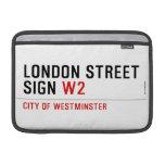 LONDON STREET SIGN  MacBook Air Sleeves (landscape)