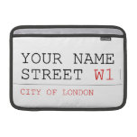 Your Name Street  MacBook Air Sleeves (landscape)