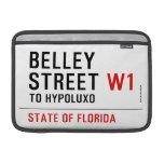 Belley Street  MacBook Air Sleeves (landscape)