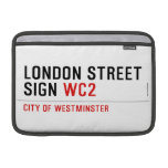LONDON STREET SIGN  MacBook Air Sleeves (landscape)