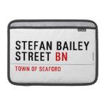 Stefan Bailey Street  MacBook Air Sleeves (landscape)
