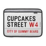 cupcakes Street  MacBook Air Sleeves (landscape)
