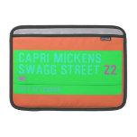 Capri Mickens  Swagg Street  MacBook Air Sleeves (landscape)