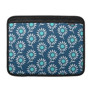 Macbook Aqua Blue White Pattern MacBook Sleeve