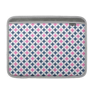 Macbook Blue Pink Geometric Pattern MacBook Sleeve