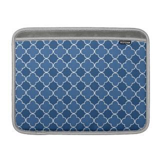 Macbook Blue Quatrefoil Pattern Sleeves For MacBook Air