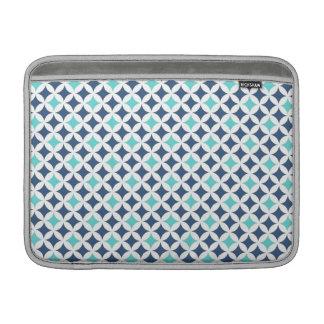 Macbook Blue Teal Geometric Pattern MacBook Air Sleeve
