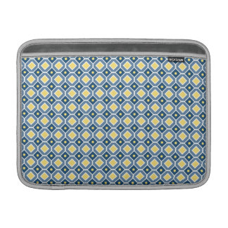 Macbook Blue Yellow Retro Pattern MacBook Sleeves