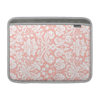 Macbook Coral Damask Pattern Sleeves For MacBook Air