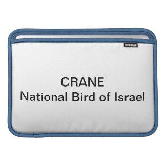 MACBOOK - Crane: National Bird of Israel MacBook Sleeve