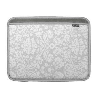 Macbook Gray Damask Pattern MacBook Sleeve