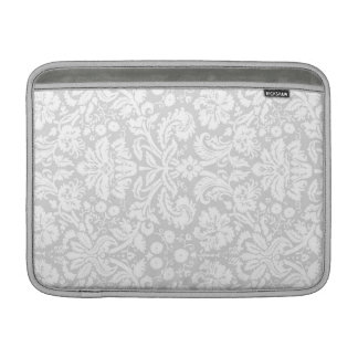 Macbook Gray Damask Pattern Sleeves For MacBook Air