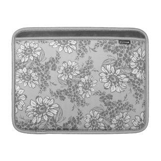 Macbook Gray Floral Pattern Sleeve For MacBook Air