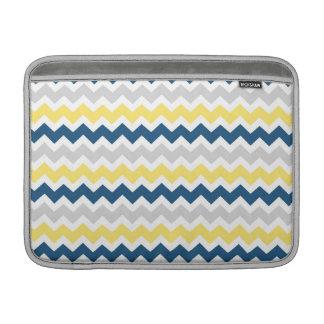 Macbook Lemon Blue Grey Chevrons Pattern MacBook Air Sleeve
