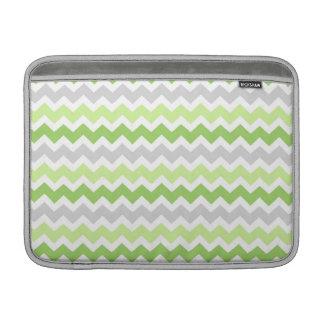 Macbook Lime Grey Chevrons Pattern MacBook Air Sleeve