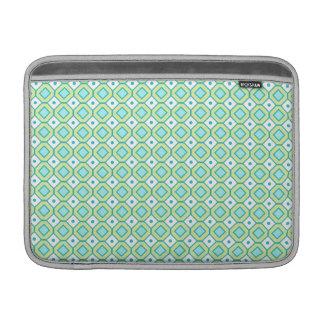Macbook Lime Teal Retro Pattern MacBook Sleeve