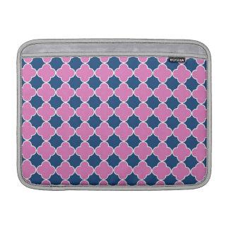 Macbook Pink Blue Quatrefoil Pattern MacBook Air Sleeve