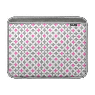 Macbook Pink Grey Geometric Pattern MacBook Sleeve