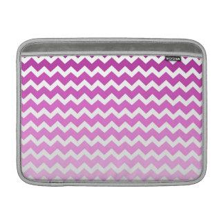 Macbook Pink Ombre Chevrons Pattern MacBook Sleeve