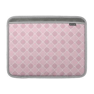 Macbook Pink Quatrefoil Pattern Sleeve For MacBook Air