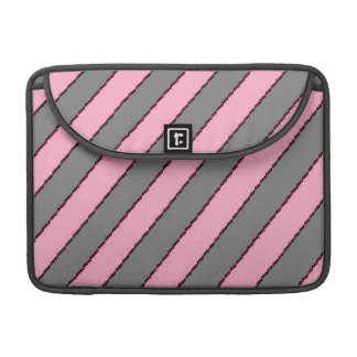 "Macbook Pro 13"" /pink and gray stribes Sleeves For MacBooks"