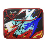 "Macbook Pro 13"" Sleeve Colorful Abstract Red Back Sleeve For MacBooks"