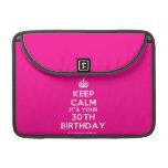 "[Crown] keep calm it's your 30th birthday  MacBook Pro 13"" Sleeves MacBook Pro Sleeve"