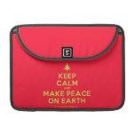 "[Xmas tree] keep calm and make peace on earth  MacBook Pro 13"" Sleeves MacBook Pro Sleeve"