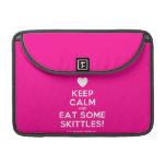 "[Love heart] keep calm and eat some skittles!  MacBook Pro 13"" Sleeves MacBook Pro Sleeve"