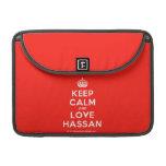 "[Crown] keep calm and love hassan  MacBook Pro 13"" Sleeves MacBook Pro Sleeve"