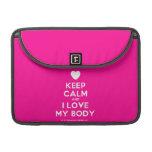 "[Love heart] keep calm and i love my body  MacBook Pro 13"" Sleeves MacBook Pro Sleeve"