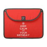 "[Cupcake] keep calm its your birthday  MacBook Pro 13"" Sleeves MacBook Pro Sleeve"