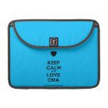 "[Love heart] keep calm and love cma  MacBook Pro 13"" Sleeves MacBook Pro Sleeve"