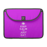 """[Cutlery and plate] keep calm and just eat  MacBook Pro 13"""" Sleeves MacBook Pro Sleeve"""