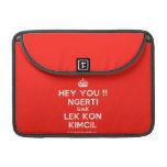"[Crown] hey you !! ngerti gak lek kon kimcil  MacBook Pro 13"" Sleeves MacBook Pro Sleeve"