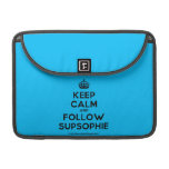 "[Crown] keep calm and follow supsophie  MacBook Pro 13"" Sleeves MacBook Pro Sleeve"