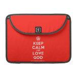 "[Cupcake] keep calm and love god  MacBook Pro 13"" Sleeves MacBook Pro Sleeve"