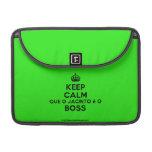 """[Crown] keep calm que o jacinto é o boss  MacBook Pro 13"""" Sleeves MacBook Pro Sleeve"""