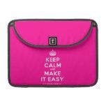 """[Crown] keep calm and make it easy  MacBook Pro 13"""" Sleeves MacBook Pro Sleeve"""
