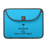 "[Two hearts] i #love b5 hot tall boys that melt  MacBook Pro 13"" Sleeves MacBook Pro Sleeve"