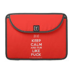 "[UK Flag] keep calm and run like fuck  MacBook Pro 13"" Sleeves MacBook Pro Sleeve"