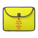 "[Smile] keep calm and smile on  MacBook Pro 13"" Sleeves MacBook Pro Sleeve"